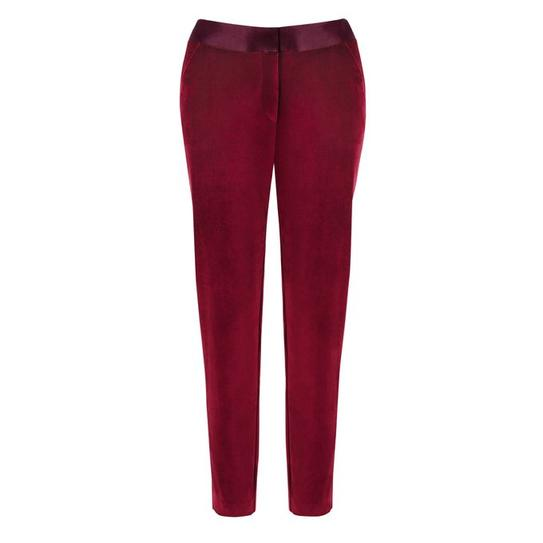 red velvet tux pants
